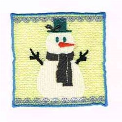 Candle Wrap Snow Man embroidery design