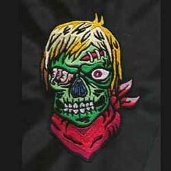 Zombie Head embroidery design