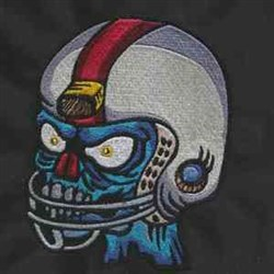 Football Zombie embroidery design