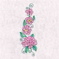 Pink Floral embroidery design