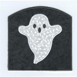 Applique Ghost Bag embroidery design
