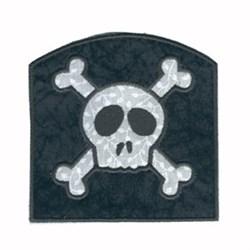 Applique Skull Bag embroidery design