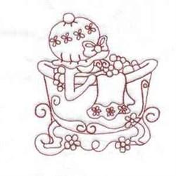 Bubble Bath Bonnet embroidery design