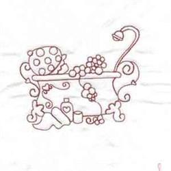 Girl In Bath embroidery design