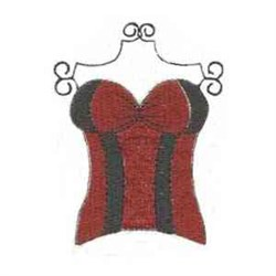 Red Corset embroidery design