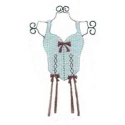 Bow Corset embroidery design