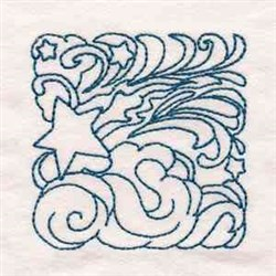 Star Block embroidery design