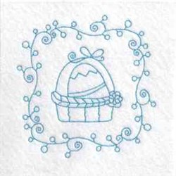 Easter Basket Quilt embroidery design