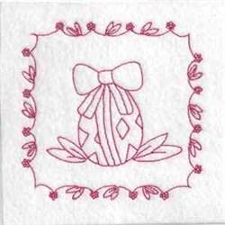 Easter Redwork Quilt embroidery design