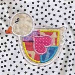 Easter Duck Applique embroidery design