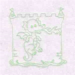 Dragon Quilt Block embroidery design