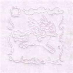 Pegasus Quilt Block embroidery design