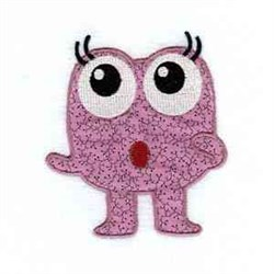 Suprised Monster embroidery design