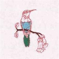 Hummingbird On Flower embroidery design