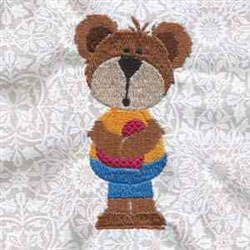 Memorial Day Bears embroidery design
