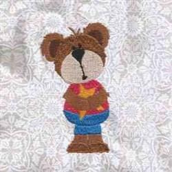Patriotic Bear embroidery design