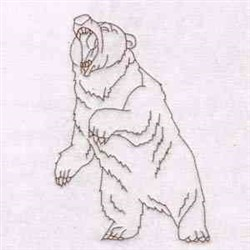 Grizzly Bears embroidery design