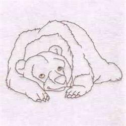 Lazy Bear embroidery design