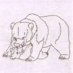 Bear & Cub embroidery design