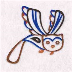 Flying Owl embroidery design
