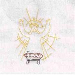 Nativity Angel embroidery design