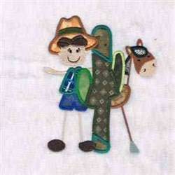 Cowboy and Horse embroidery design