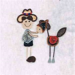 Stick Cowboy embroidery design