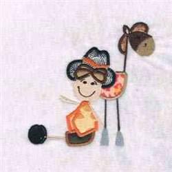 Cute Cowboy embroidery design