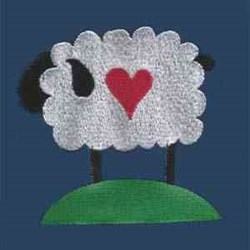 Sweetheart Sheep embroidery design