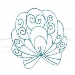 Swirl Seashell embroidery design