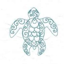 Swirl Turtle embroidery design