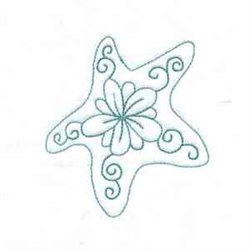 Swirl Starfish embroidery design