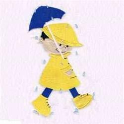 Rainy Day Boy embroidery design