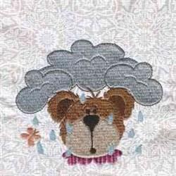 Rainy Day Bear embroidery design