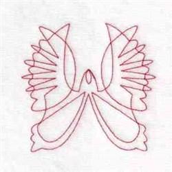 Angel Redwork embroidery design