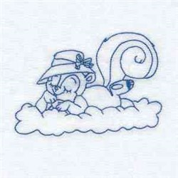 Cloud Squirrel embroidery design