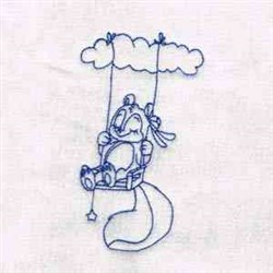 Swing Squirrel embroidery design