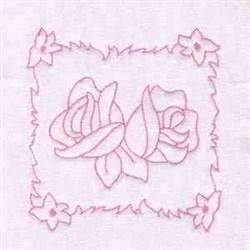 Roses Blocks embroidery design