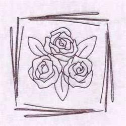 Redwork  Rose Blocks embroidery design