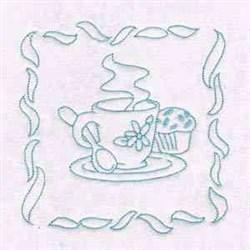 RW Tea Time Block embroidery design