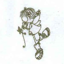 Redwork Fairy embroidery design