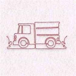 Redwork Truck embroidery design