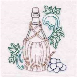 Wine Country embroidery design