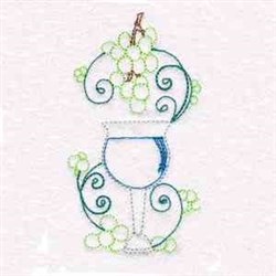 Wine Goblet embroidery design