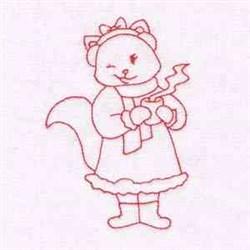 Winter RW Cat embroidery design