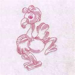 Vaccum Flamingos embroidery design