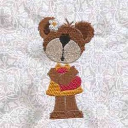 Valentine Bears embroidery design
