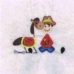Western Cowboy embroidery design