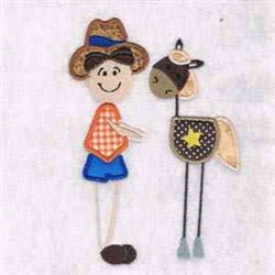 Patchwork Cowboy embroidery design