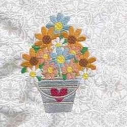 Flower Bucket embroidery design